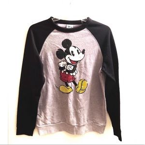 Disney / Mickey Mouse Distressed Long Sleeve Shirt